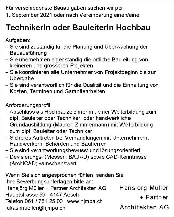 Stelleninserat_Bauleiter_2021